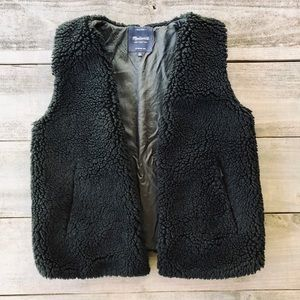 Madewell Black Faux Wool Vest